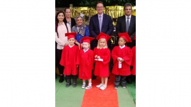Saj Hussain, Deputy Mayor and Jonathan Lord MP visit Carol's Day Nursery